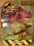 the lost world jurassic park mint in package velociraptor