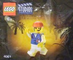 LEGO Studios set #4061 Female Assistant minifigure