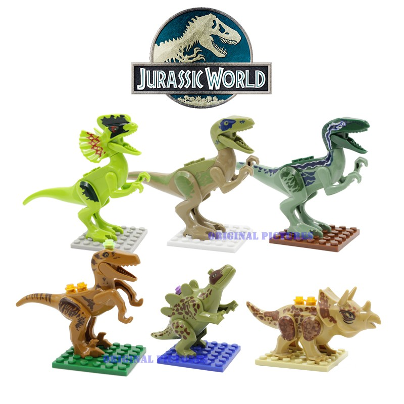 unique jurassic world lego figures
